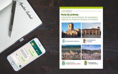 Importantes ayuntamientos de Guadalajara registran su huella de carbono confiando en Sustant Consutoría